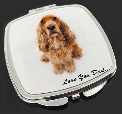 Red Cocker Spaniel 'Love You Dad' Make-Up Compact Mirror Stocking Fil, DAD-189CM