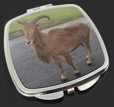 Cute Nanny Goat Make-Up Compact Mirror Stocking Filler Gift, GOAT-1CM