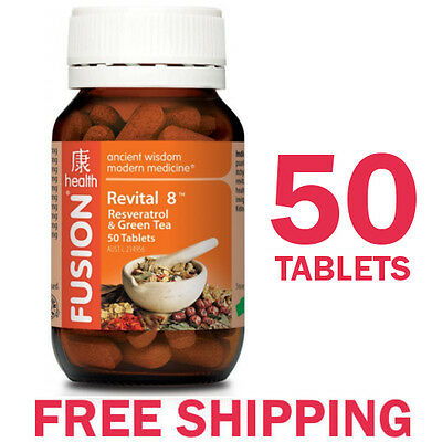 Fusion Revital 8 - Resveratrol & Green Tea - 50 Tablets