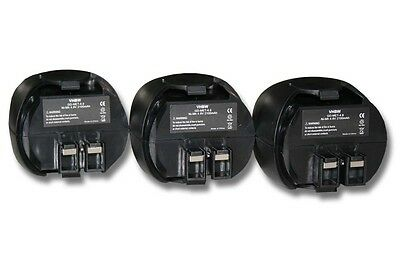 3x BATTERIA 2100mAh 4,8V per Metabo Powergrip 2 Powergrip II Powermaxx
