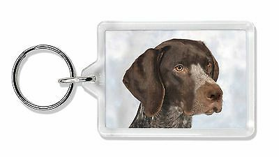 German Pointer Dog Photo Keyring Animal Gift, AD-PG2K
