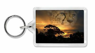 Cheetah Watch Photo Keyring Animal Gift, AT-41K