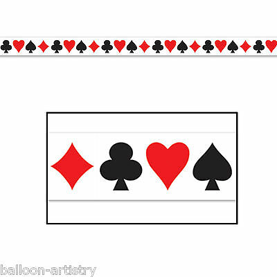 20ft Classic Casino Playing Cards Poker Night Party Tape Streamer Decoration