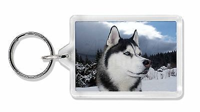 Siberian Husky Dog Photo Keyring Animal Gift, AD-H52K