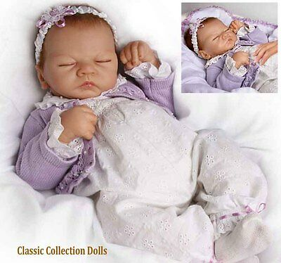 "Ashton Drake ""SWEET DREAMS EMILY"" LIFELIKE BREATHING BABY DOLL -NEW-IN STOCK NOW"