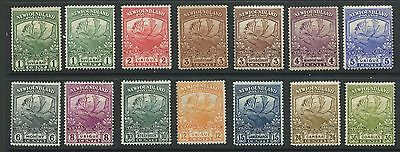 Newfoundland 1919 Trail of the Caribou issue plus varieties #115-126 mhr