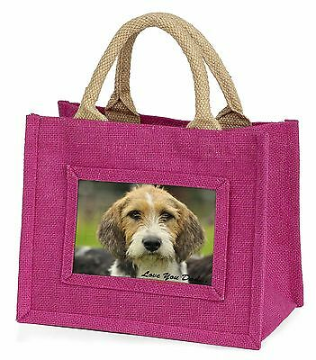 Fox Hound 'Love You Dad' Little Girls Small Pink Shopping Bag Christm, DAD-30BMP