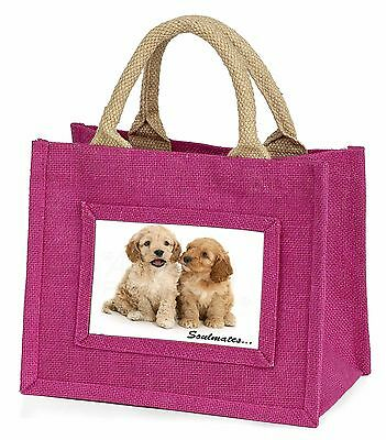 Cockerpoodle Puppy Dogs 'Soulmates' Little Girls Small Pink Shopping, SOUL-27BMP