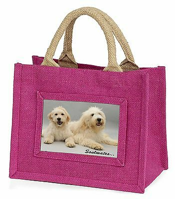 Labradoodle Dogs 'Soulmates'  Little Girls Small Pink Shopping Bag C, SOUL-40BMP