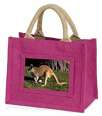 Kangaroo Little Girls Small Pink Shopping Bag Christmas Gift, AK-2BMP