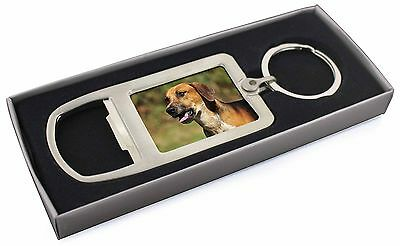 Foxhound Dog Chrome Metal Bottle Opener Keyring in Box Gift Idea, AD-FH1MBO