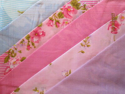 6 Ladies' Handkerchiefs SEWARD FLORAL Hanky SET pink lilac blue 100% COTTON