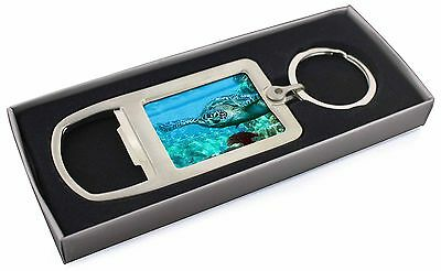 Turtle by Coral Chrome Metal Bottle Opener Keyring in Box Gift Idea, AF-T20MBO