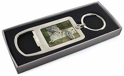 Beautiful Snow Leopard Chrome Metal Bottle Opener Keyring in Box Gift , AT-47MBO