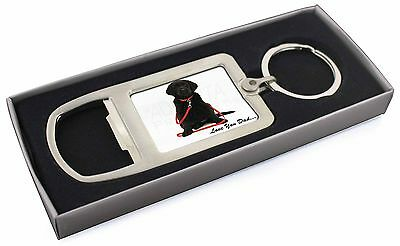 Goldador Dog 'Love You Dad' Chrome Metal Bottle Opener Keyring in Box, DAD-69MBO
