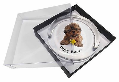'Happy Easter' Shih-Tzu Glass Paperweight in Gift Box Christmas Pre, AD-SZ4DA1PW