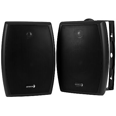 "Dayton Audio IO655B 6-1/2"" 2-Way Indoor/Outdoor Speaker Pair Black"