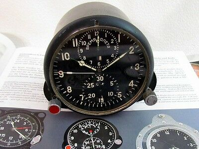 AChS-1M CHRONOGRAPH VINTAGE RUSSIAN AIR FORCE MIG HELICOPTER COCKPIT PANEL CLOCK