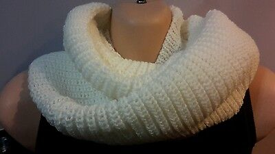 Womens Winter Cable chunky Knit Infinity Cowl Neck Round Circle Scarf  4 colors