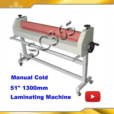 51In 1300MM Stand Large Soft Rubber Roll Cold Laminating Machine Laminator