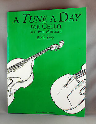 A Tune A Day For Cello by C.Paul Herfurth - Book Two - Brand New