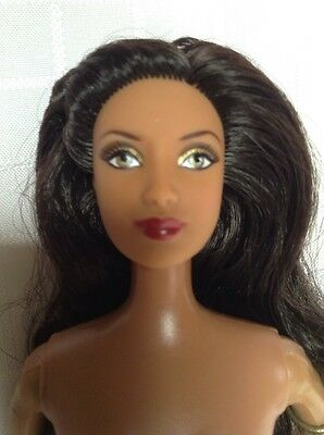 Barbie-Like African American Doll With Snake Wrapped On Arm Tattoos Belly+Back