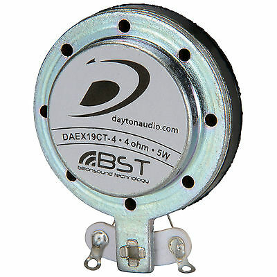 Dayton Audio DAEX19CT-4 Coin Type 19mm Vented Exciter 5W 4 Ohm