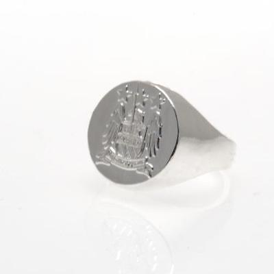 Official Licensed Football Club Manchester City Silver Plated Crest Ring Large