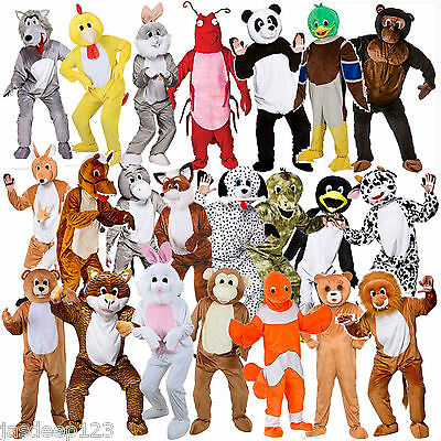 Adult Animal Big Head Unisex onesi Mascot Fancy Dress Costume Charity Run Event