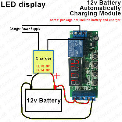 LED display 12v Battery Automatically Auto Charger Controller Protection Module
