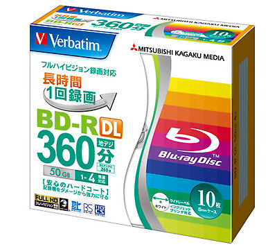 10 Disque dur Verbatim Bluray 50GB DVD Blu ray Disc 4x Speed Inkjet Printable