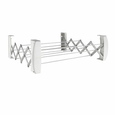 Leifheit Teleclip 60 wall mount indoor outdoor clothes airer dryer, 3 year wty