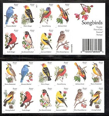 2014 #4882-4891 Songbirds Convertible booklet of 20 Mint