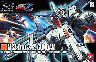 Bandai Hguc Msz-010 Zz Gundam High Grade 1/100 Plastic Model Kit Gunpla Hg