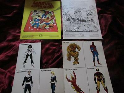 MARVEL SUPER HEROES BATTLE BOOK. RPG Rules Book 1. TSR + extra bits