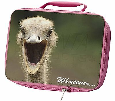 Ostritch with 'Whatever' Insulated Pink Lunch Box, AB-OS2LBP