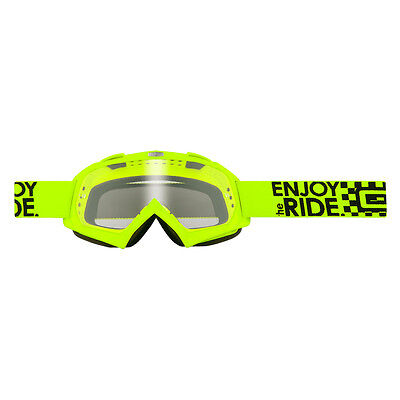 Oneal B-Flex Launch Clear Yellow Motocross Goggles Eye UV Protective Lenses MX