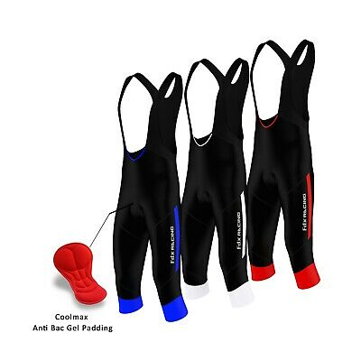 FDX Mens Cycling 3/4 Bib Tights Gel Padded cycling tights Bib Shorts Bike Pants