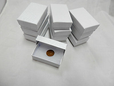 Wholesale 25 Small White Swirl Cotton Fill Jewelry Gift Boxes 1 7/8
