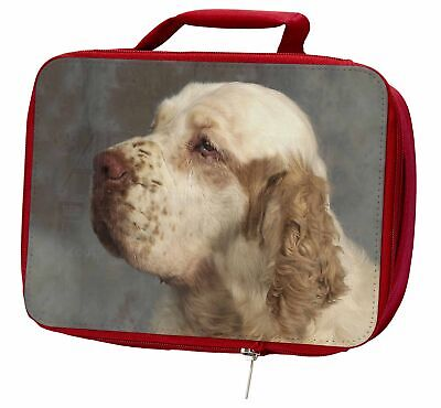 Clumber Spaniel Dog Insulated Red Lunch Box, AD-CS1LBR