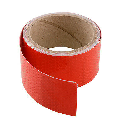 Hot 3M Red Reflective Types Car Sticker Warning Conspicuity Tape Film Roll
