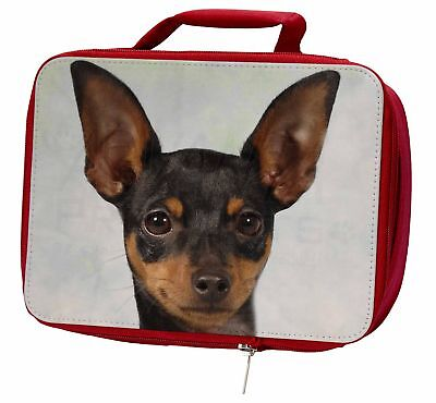 English Toy Terrier Dog Insulated Red Lunch Box, AD-ET1LBR