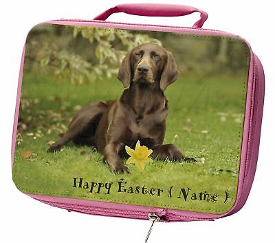Personalised German Pointer Insulated Pink Lunch Box, AD-GSP1DA2LBP