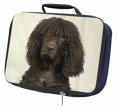 Irish Water Spaniel Dog Navy Insulated Lunch Box, AD-IWSLBN
