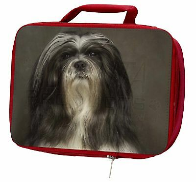 Lhasa Apso Dog Insulated Red Lunch Box, AD-LAP1LBR