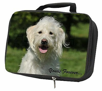 White Labradoodle 'Yours Forever' Black Insulated Lunch Box, AD-LD3yLBB