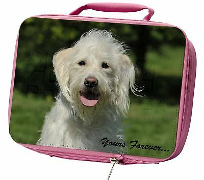 White Labradoodle 'Yours Forever' Insulated Pink Lunch Box, AD-LD3yLBP