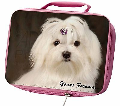Maltese Dog 'Yours Forever' Insulated Pink Lunch Box, AD-M1yLBP