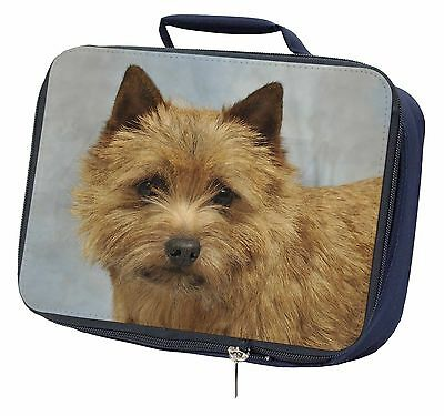Norfolk-Norwich Terrier Dog Navy Insulated Lunch Box, AD-NT2LBN