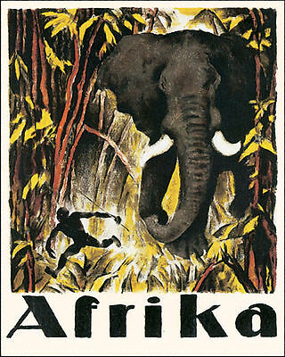 POSTER INDIA SACRED ELEPHANT AIRPLANE TRAVEL TOURISM VINTAGE REPRO FREE S//H